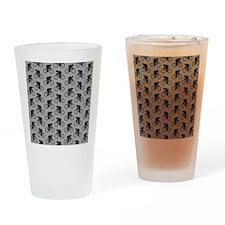 Gray Cycling Pattern. Drinking Glass