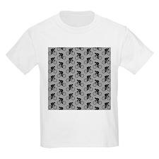 Gray Cycling Pattern. T-Shirt