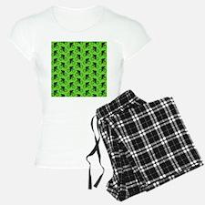 Green Cycling Pattern. Pajamas