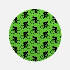 "Green Cycling Pattern. 3.5"" Button"