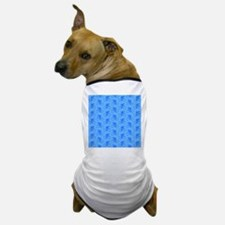 Blue Cycling Pattern. Dog T-Shirt