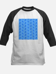 Blue Cycling Pattern. Baseball Jersey
