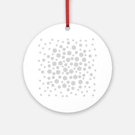 Gray Hexagons. Ornament (Round)