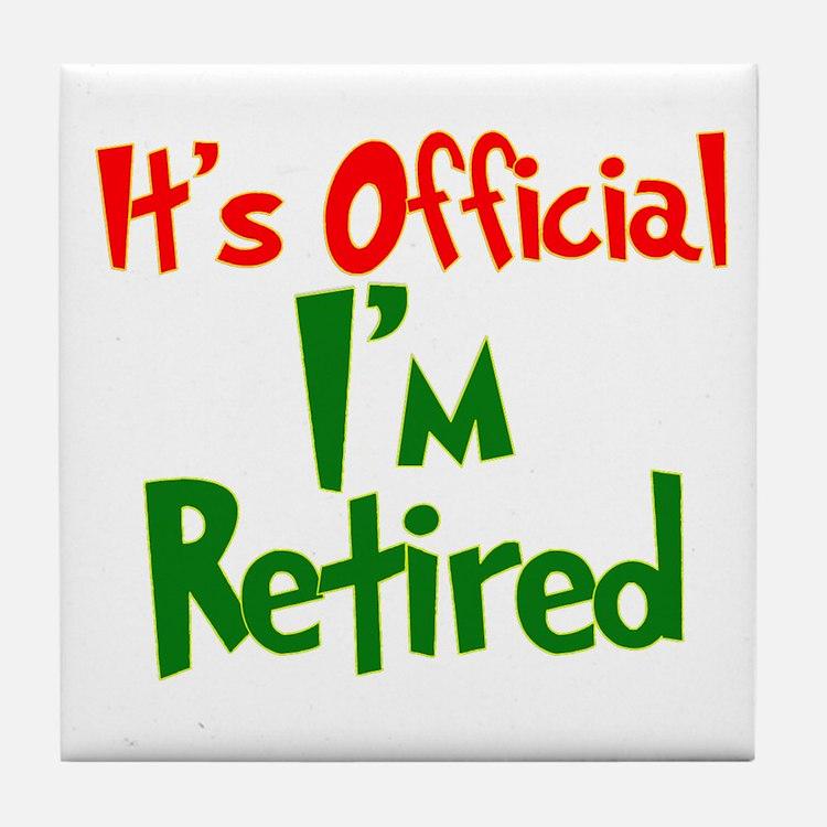 Funny Retirement Quotes: Cork, Puzzle & Tile Coasters