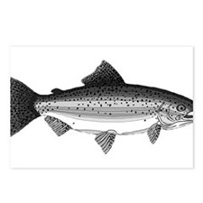 Rainbow Trout Postcards (Package of 8)