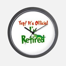 Retirement Fun! Wall Clock