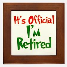 Retirement Fun! Framed Tile