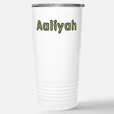 Aaliyah Spring Green Stainless Steel Travel Mug