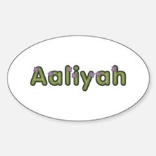 Aaliyah Spring Green Oval Decal
