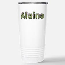 Alaina Spring Green Stainless Steel Travel Mug