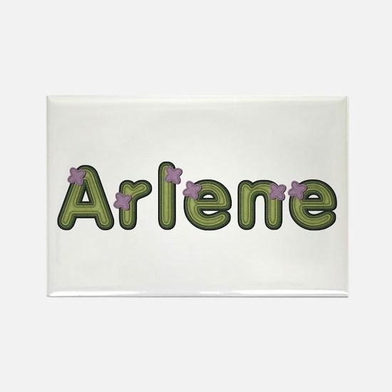 Arlene Spring Green Rectangle Magnet