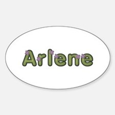 Arlene Spring Green Oval Decal