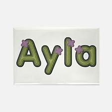 Ayla Spring Green Rectangle Magnet