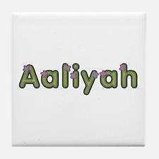 Aaliyah Spring Green Tile Coaster