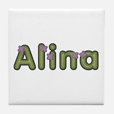 Alina Spring Green Tile Coaster