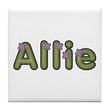 Allie Spring Green Tile Coaster