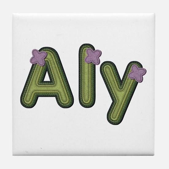 Aly Spring Green Tile Coaster