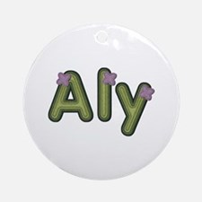 Aly Spring Green Round Ornament