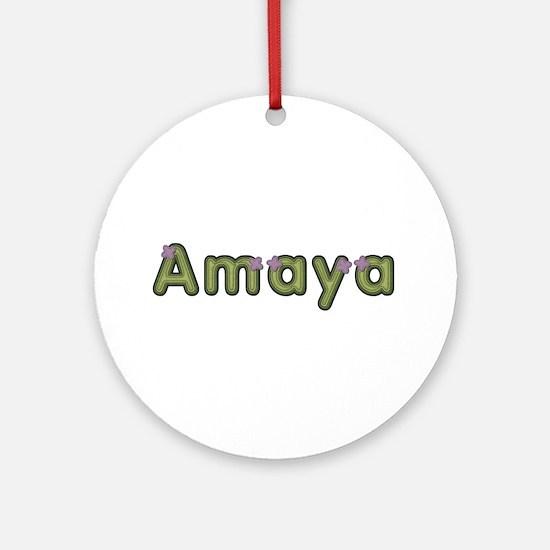 Amaya Spring Green Round Ornament