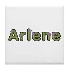 Arlene Spring Green Tile Coaster