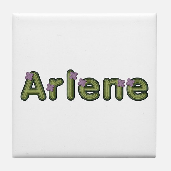 Arlene Spring Green Tile Coaster