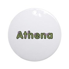 Athena Spring Green Round Ornament