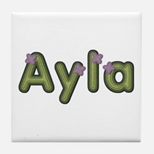 Ayla Spring Green Tile Coaster