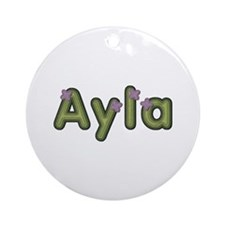 Ayla Spring Green Round Ornament