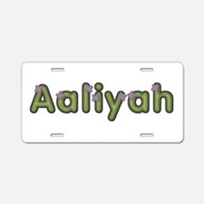 Aaliyah Spring Green Aluminum License Plate