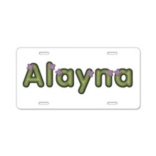 Alayna Spring Green Aluminum License Plate