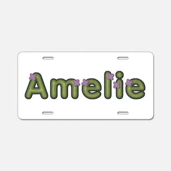Amelie Spring Green Aluminum License Plate