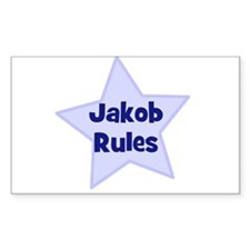 Jakob Rules Rectangle Decal