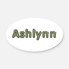 Ashlynn Spring Green Oval Car Magnet