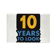 10_years Rectangle Magnet