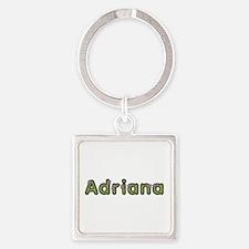 Adriana Spring Green Square Keychain