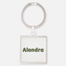 Alondra Spring Green Square Keychain