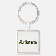 Arlene Spring Green Square Keychain