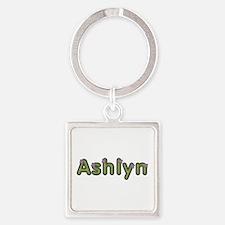Ashlyn Spring Green Square Keychain