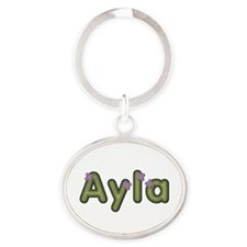 Ayla Spring Green Oval Keychain