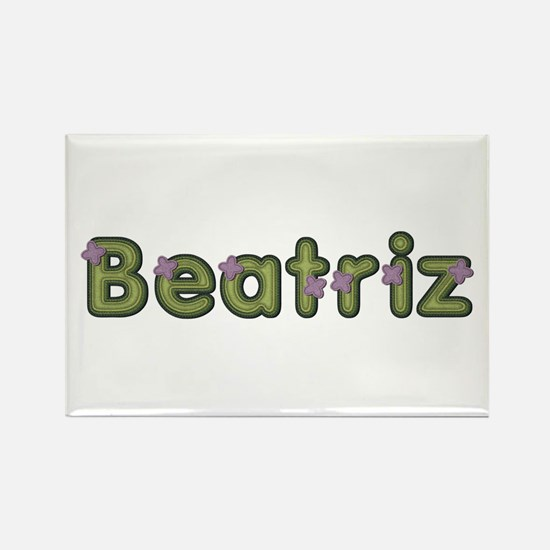 Beatriz Spring Green Rectangle Magnet