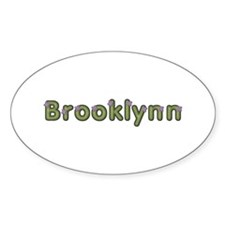 Brooklynn Spring Green Oval Decal