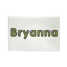 Bryanna Spring Green Rectangle Magnet