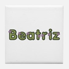 Beatriz Spring Green Tile Coaster