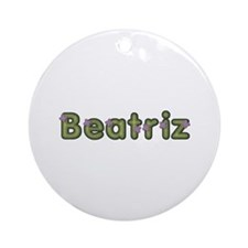 Beatriz Spring Green Round Ornament