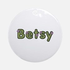 Betsy Spring Green Round Ornament