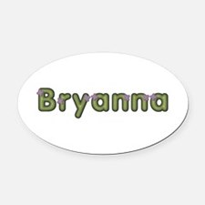 Bryanna Spring Green Oval Car Magnet