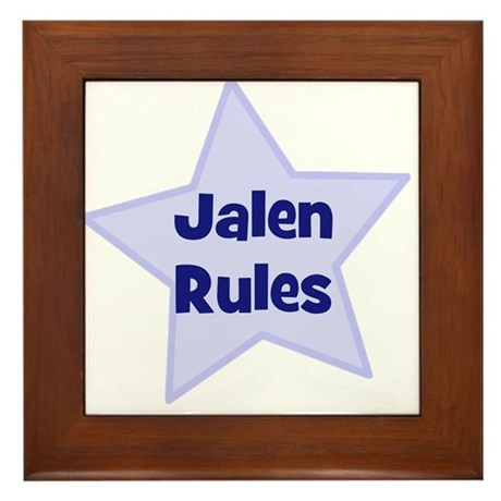 Jalen Rules Framed Tile