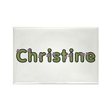 Christine Spring Green Rectangle Magnet