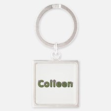 Colleen Spring Green Square Keychain