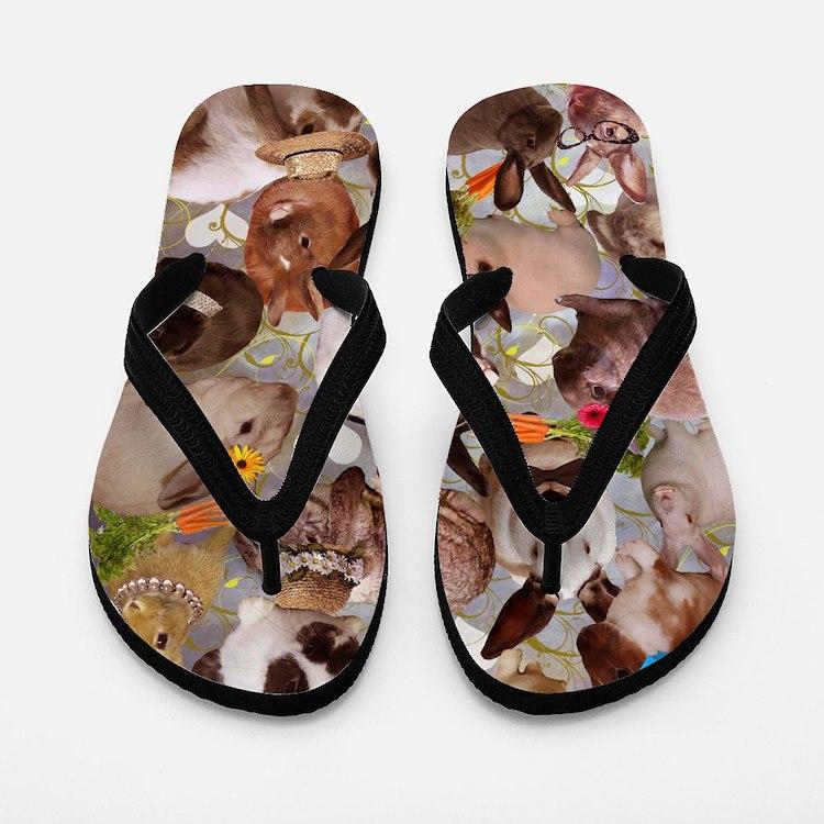 Happy Bunnies Flip Flops